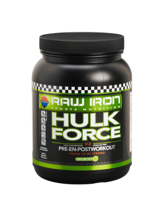 RAW IRON® Hulk Force Pre-en-Postworkout-Mix