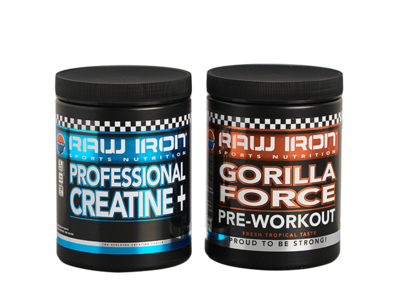 RAW IRON® Gorilla Force & Creatine+ Combi pack