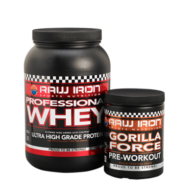 RAW IRON® Professional Whey & Gorilla Force Combi pack