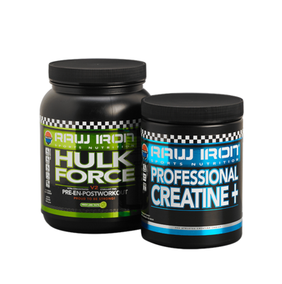 RAW IRON® Hulk Force & Professional Creatine+