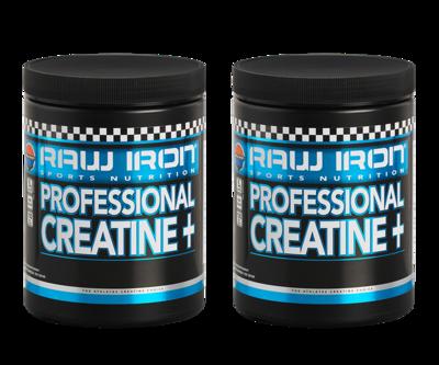RAW IRON® Professional Creatine+ 2 pack