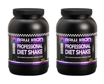RAW IRON® Professional Diet Shake 2 Pack