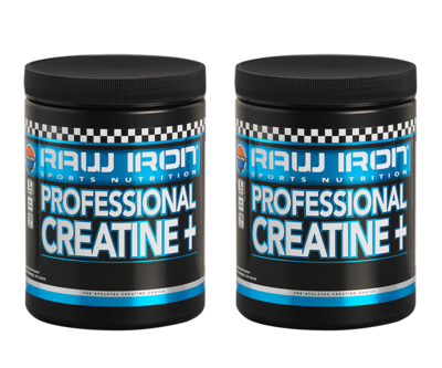 RAW IRON® Professional Creatine+ 2 pack