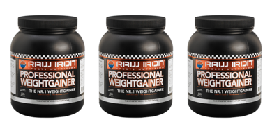 RAW IRON® Professional Weightgainer 3 pack