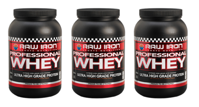 RAW IRON® Professional Whey 3 pack