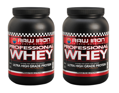 RAW IRON® Professional Whey 2 pack