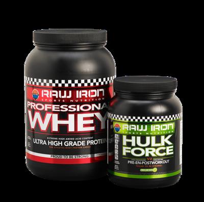 Whey Eiwit & Pre- en Post Workout Hulk Force