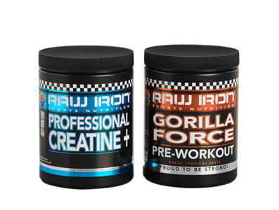 RAW IRON® Gorilla Force & Creatine+ Voordeelpakket