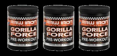 RAW IRON® Gorilla Force 3 pack