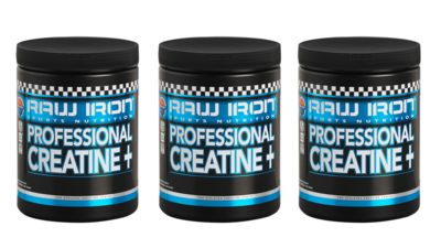 RAW IRON® Professional Creatine+ 3 pack
