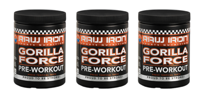 RAW IRON® Gorilla Force 3 pack
