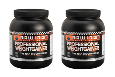 RAW IRON® Professional Weightgainer 2 pack