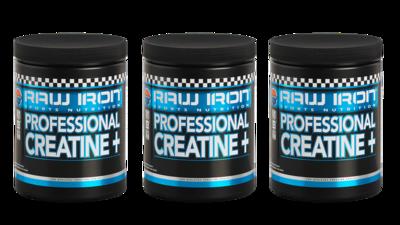 RAW IRON® Professional Creatine+ 3 pack