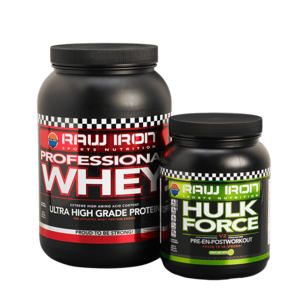 RAW IRON® Professional Whey & Hulk Force